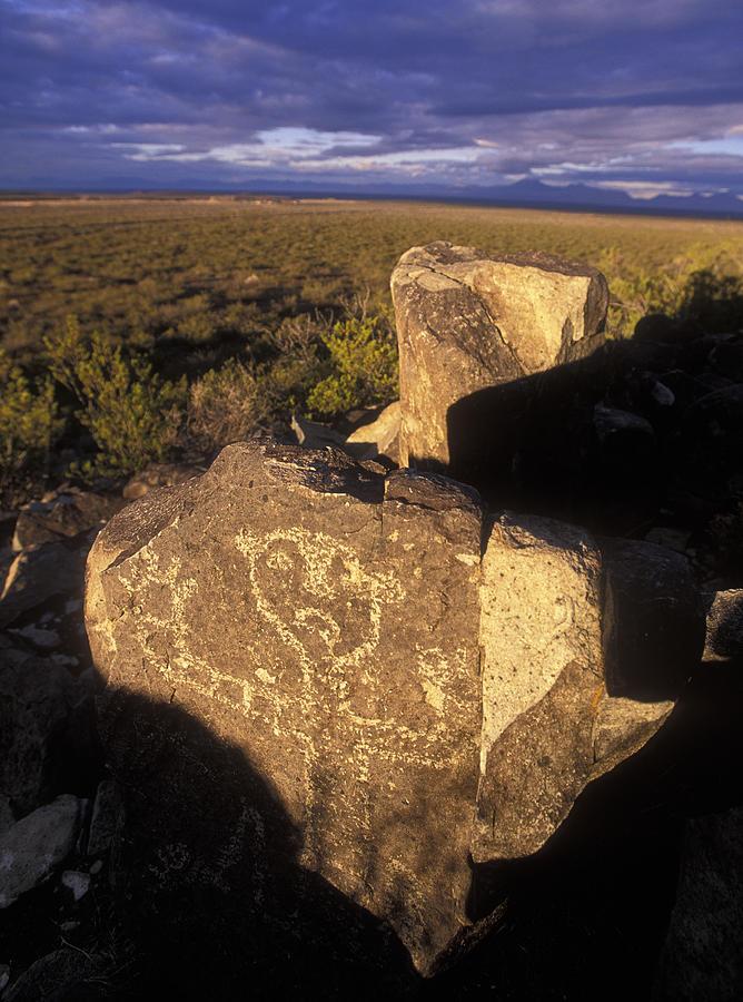 New Mexico Photograph - Jornada Mogollon Petroglyph Site Human by Rich Reid