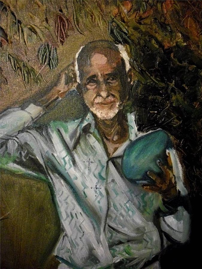Portrait Painting - Jose Belarminio Vasquez by Yxia Olivares