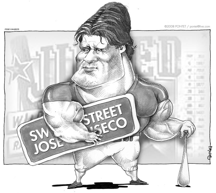Caricature Drawing - Jose Canseco by Caricatures By PONTET