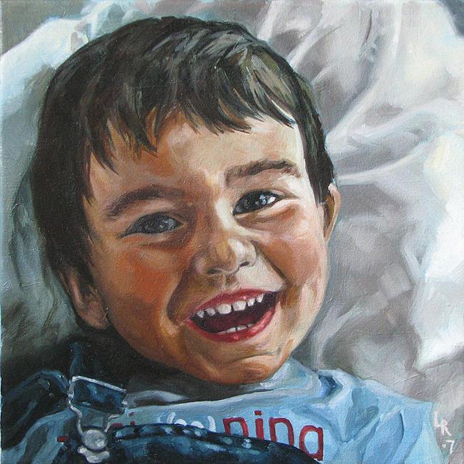 Portrait Painting - Jose Manuel by Lucia Rodriguez