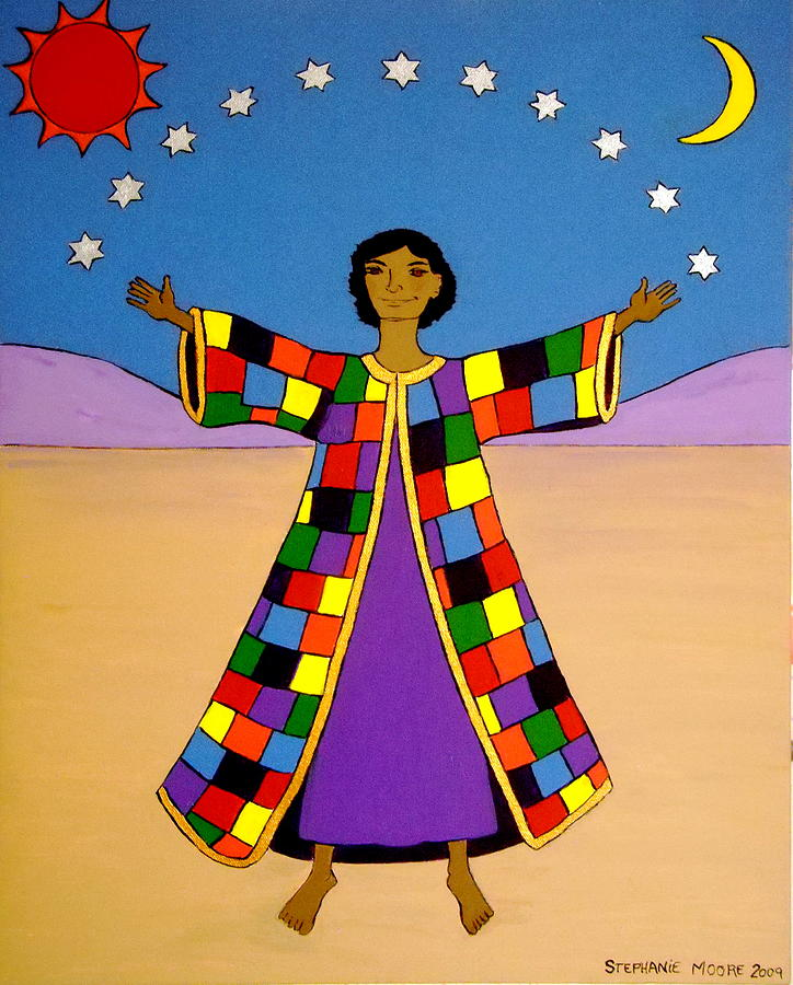 Joseph Painting - Joseph And His Coat Of Many Colours by Stephanie Moore
