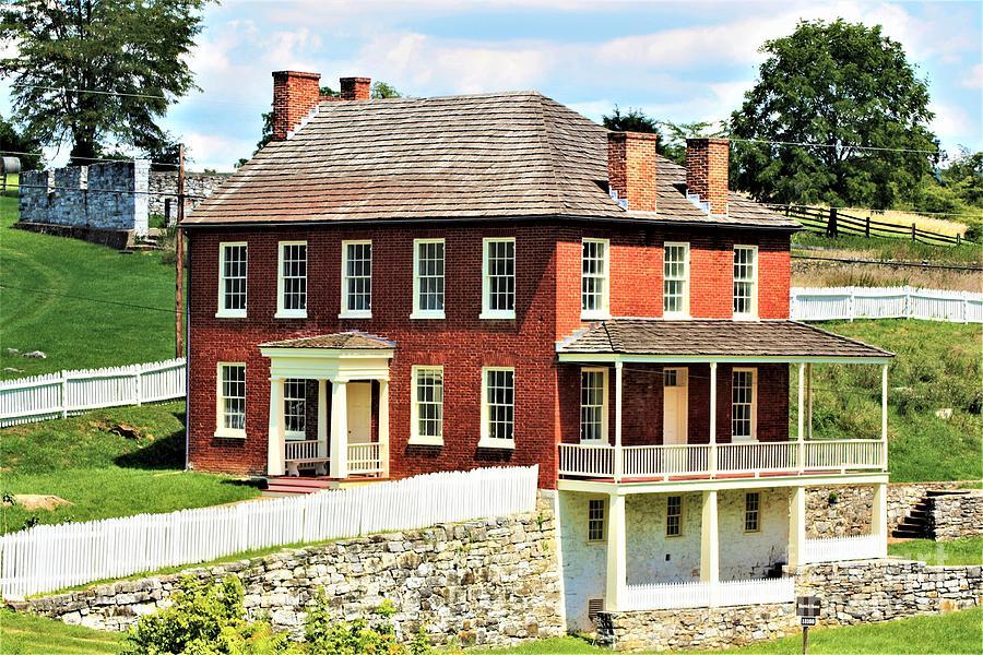 Historic Places Photograph - Joseph Sherrick Farm House At Antietam by Patti Whitten