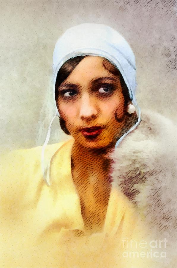 Josephine Baker, Music Legend Painting