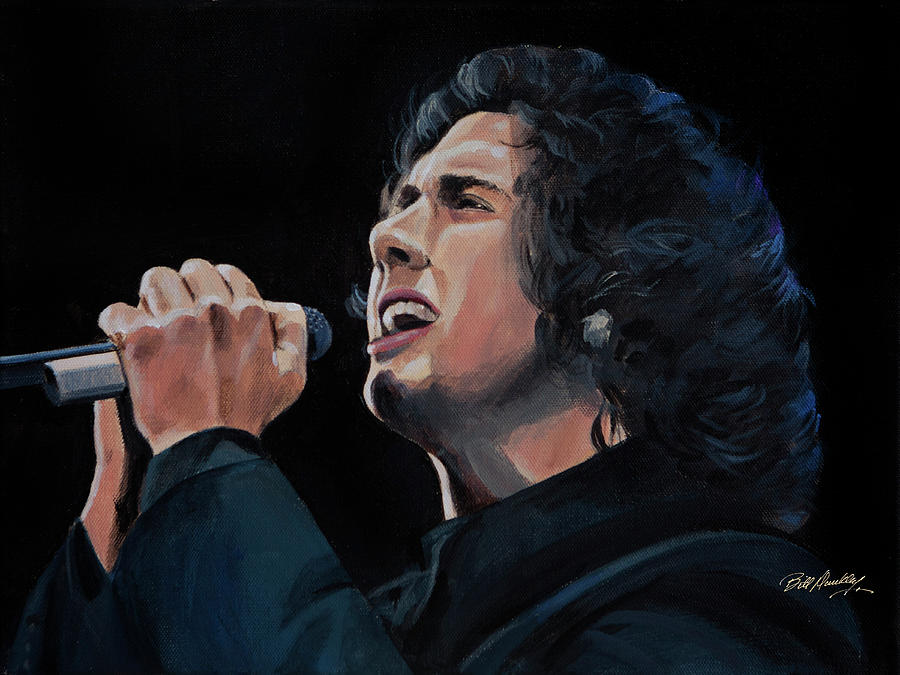 Josh Groban Painting by Bill Dunkley