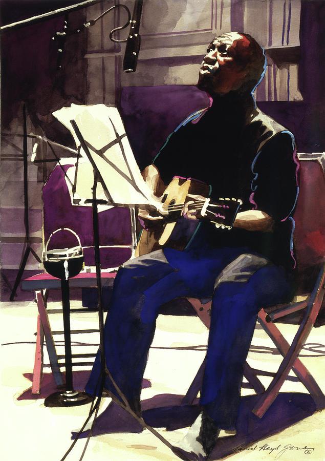 Blues Painting - Josh White Singing The Blues by David Lloyd Glover