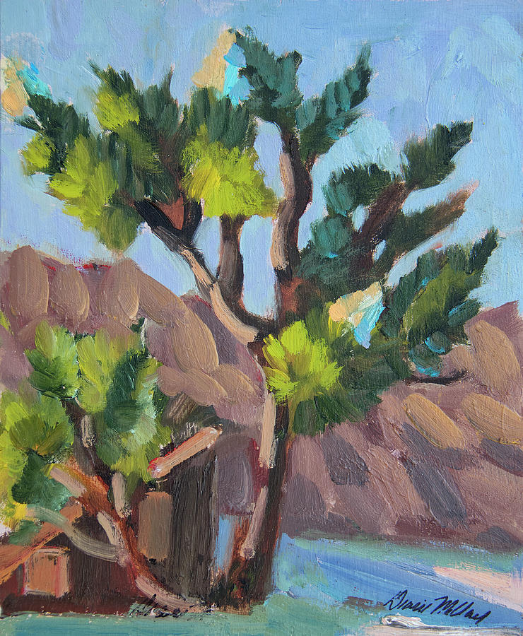 Joshua Tree Painting - Joshua At Keys Ranch by Diane McClary