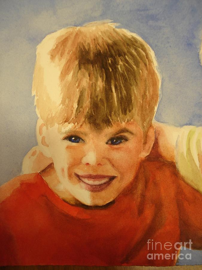 Brother Painting - Joshua by Marilyn Jacobson