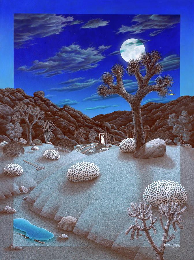Landscape Painting - Joshua Tree At Night by Snake Jagger