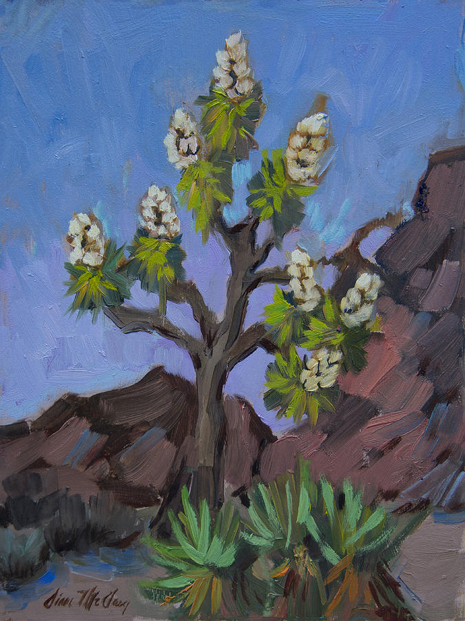 Joshua Tree Painting - Joshua Tree In Bloom by Diane McClary