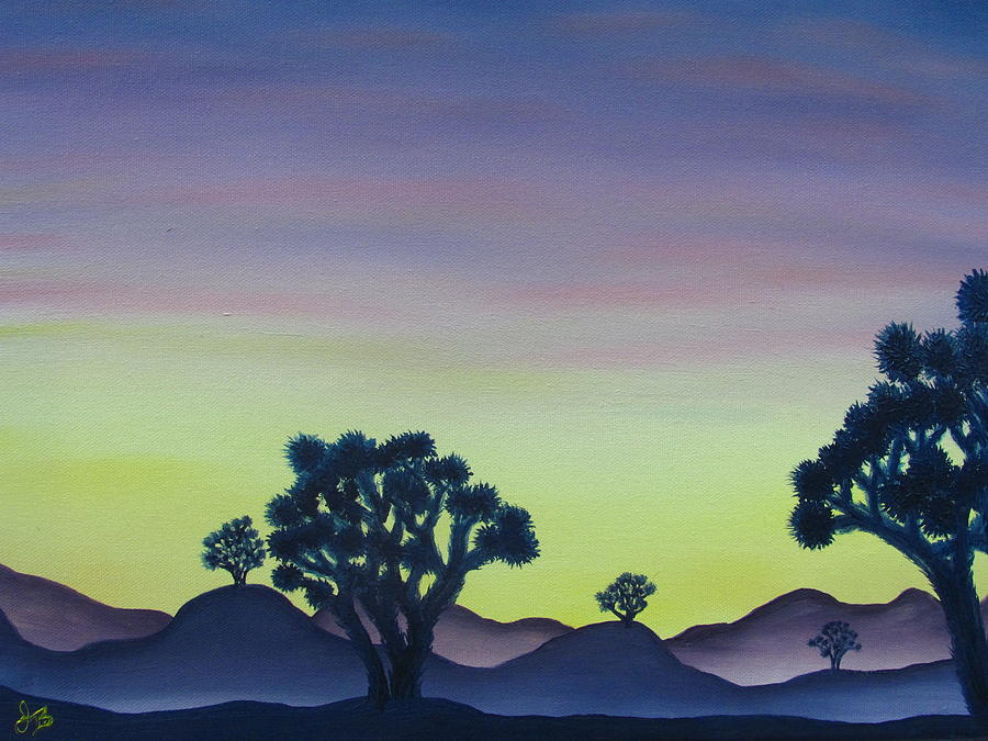 Joshua Tree Desert Painting - Joshua Tree Sunset by Joshua Bales