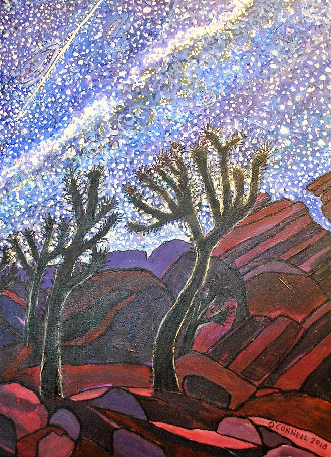 Joshua Trees On A Starry Night Painting By James OConnell