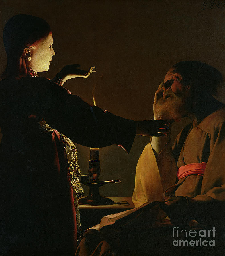 Light Painting - Jospeh And The Angel by Georges de la Tour