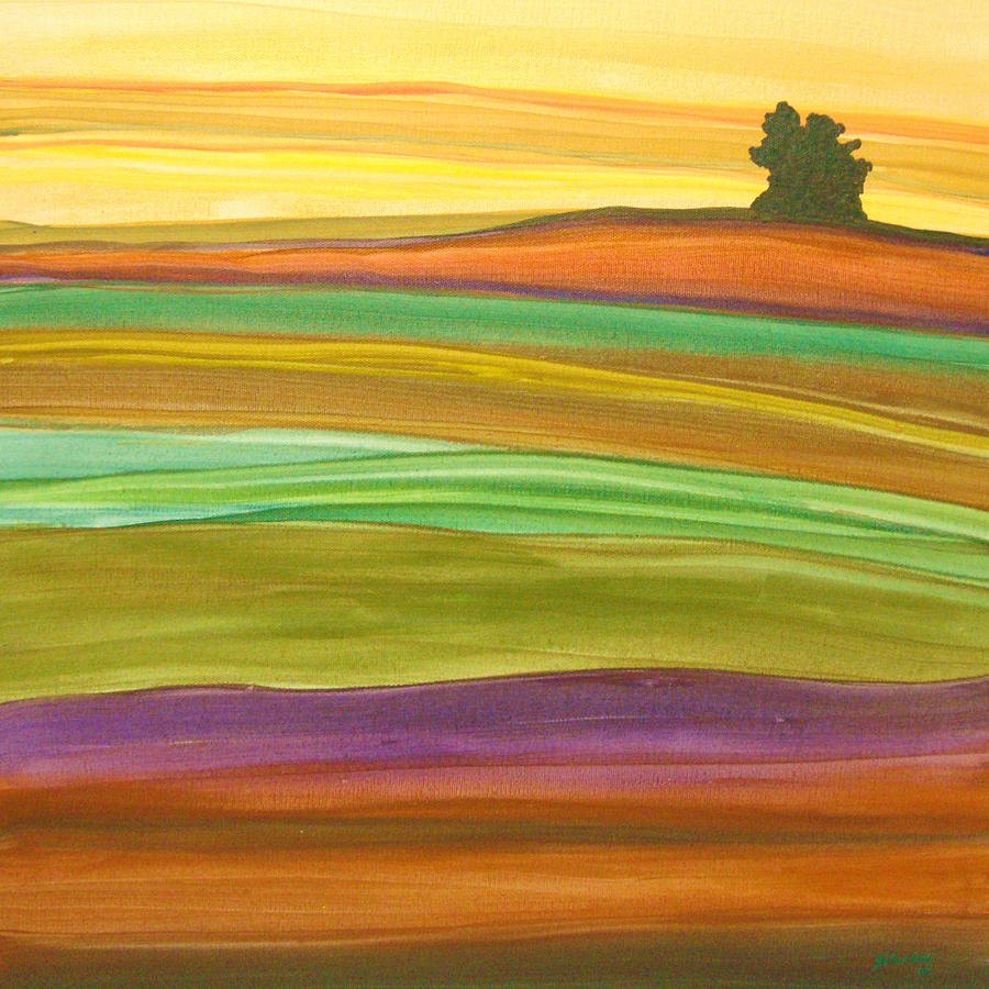 Landscape Painting - Journey by Amanda Schambon