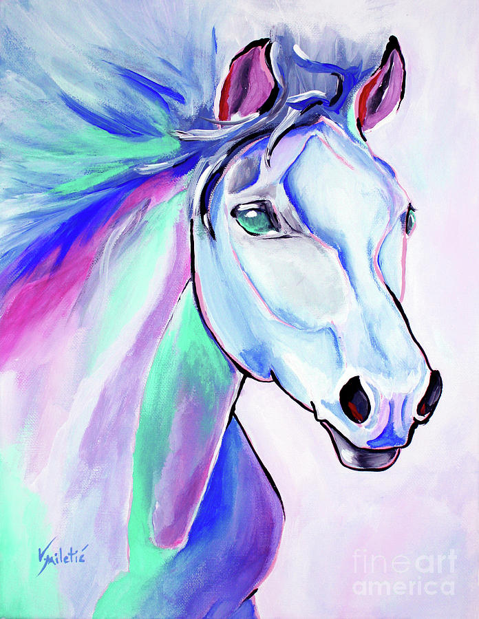 Journey Horse Art By Valentina Miletic Painting By Valentina Miletic