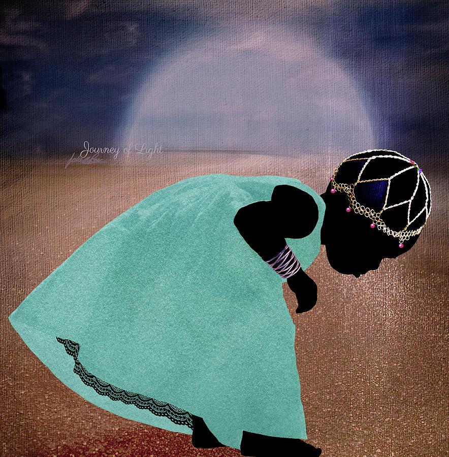 Girl Digital Art - Journey Of Light by Julie m Rae