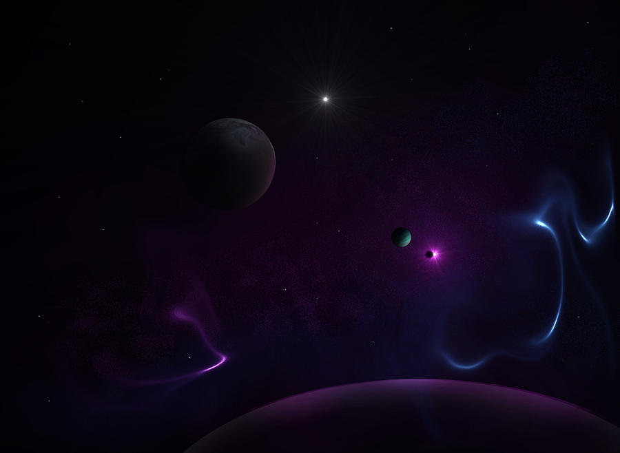 Planets Digital Art - Journey    by Ricky Haug