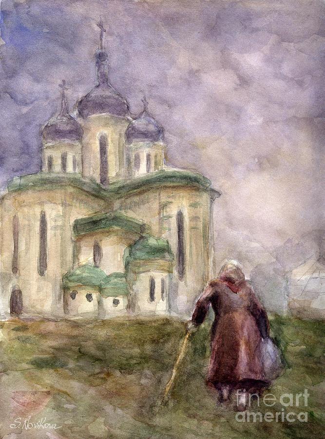 Church Painting - Journey by Svetlana Novikova
