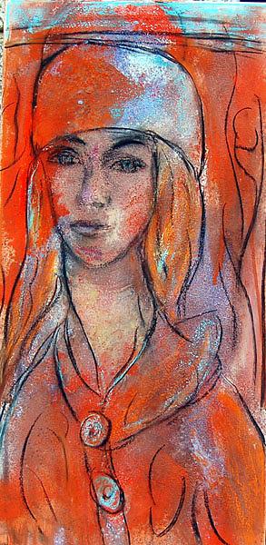 Joven Con Sombrero Painting by Soledad  Fernandez