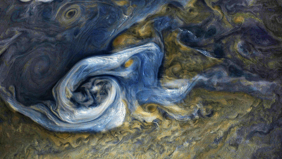 Juno Photograph - Jovian Abstract 1 by Nasa