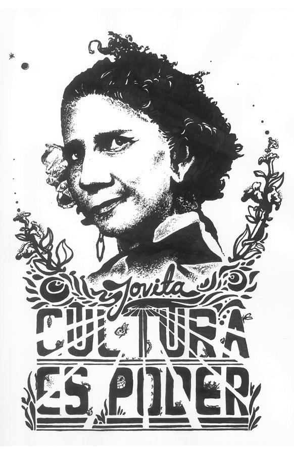 Draw Drawing - Jovita Cultura Es Poder by Fabio Lopera