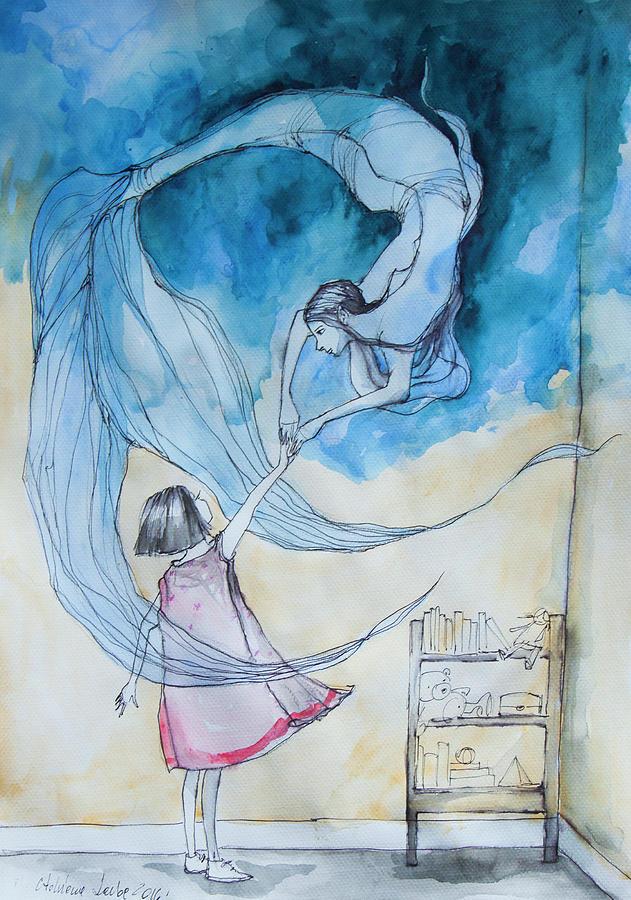 Blue Painting - Joy by Adriana Laube