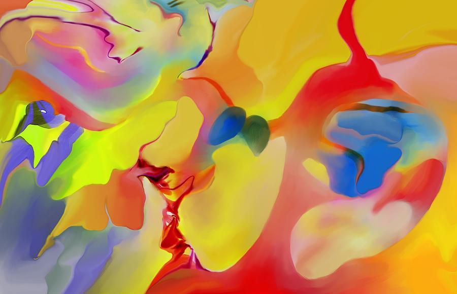Abstact Digital Art - Joy And Imagination by Peter Shor