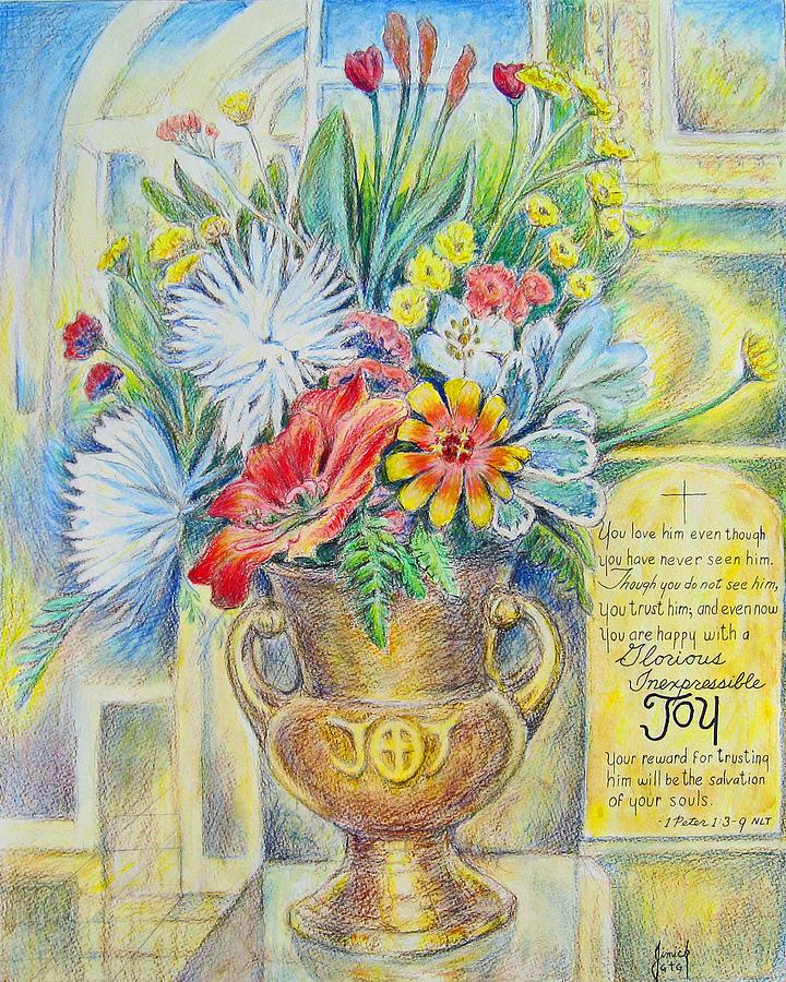 Joy Painting - Joy Bouquet by Daniel Jimick