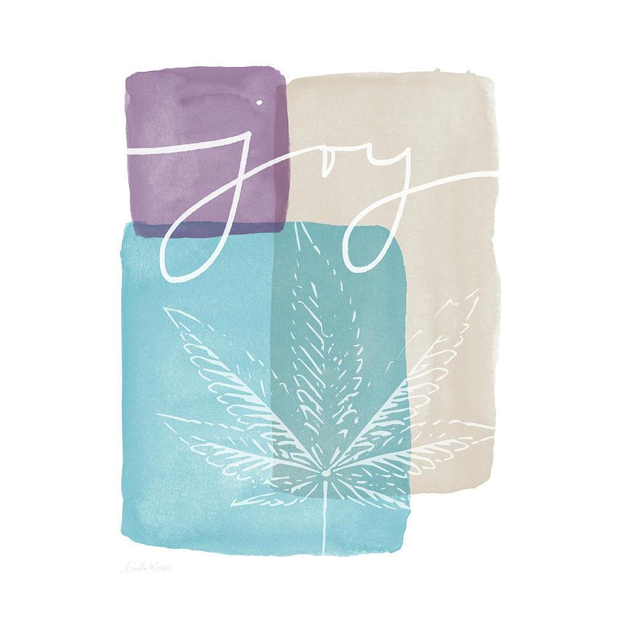 Cannabis Mixed Media - Joy Cannabis Leaf Watercolor- Art By Linda Woods by Linda Woods