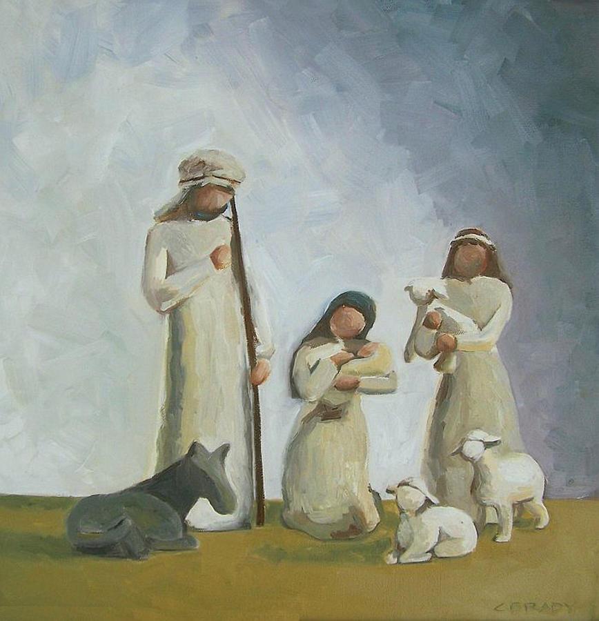 Christmas Painting - Joy by Chelsie Brady