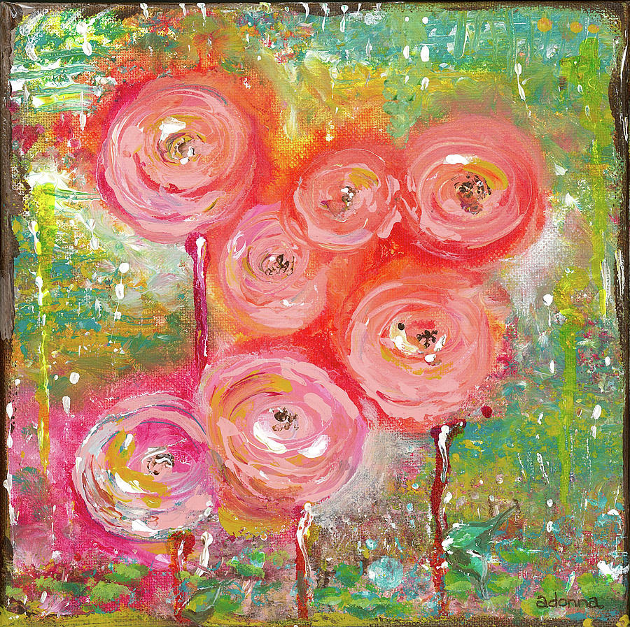 Flowers Mixed Media - Joy in Spring by Adonna Ebrahimi