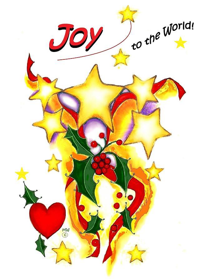 Christmas Card Digital Art - Joy To The World by Melodye Whitaker