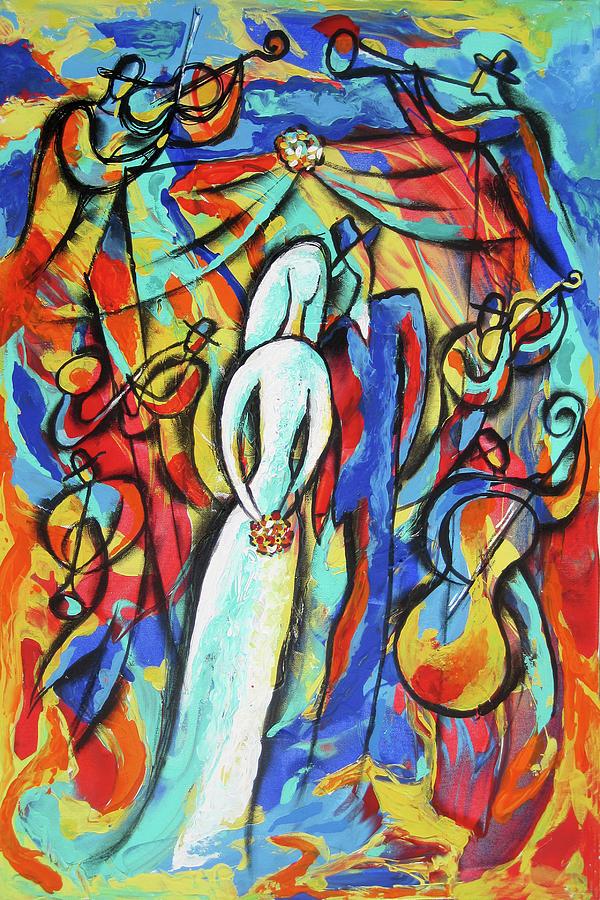 Joy of Jewish wedding by Leon Zernitsky