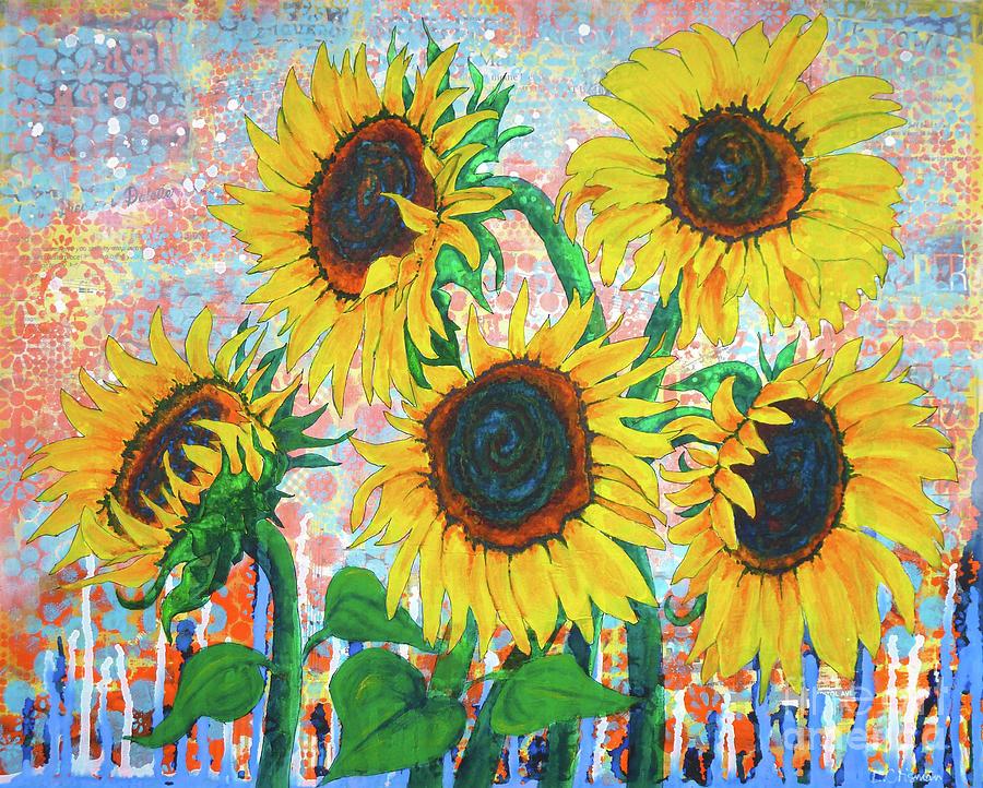 Joy of Sunflowers Desiring by Lisa Crisman