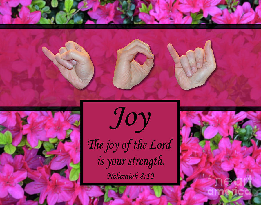 Christian Photograph - Joy of the Lord by Masters Hand Collection