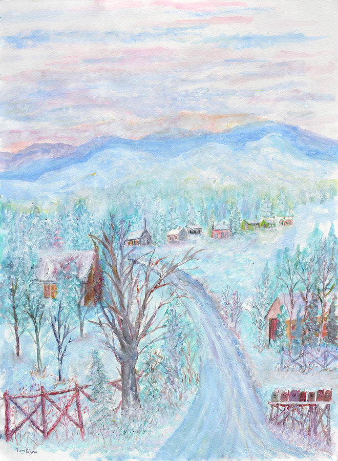 Winter Painting - Joy of Winter by Ben Kiger