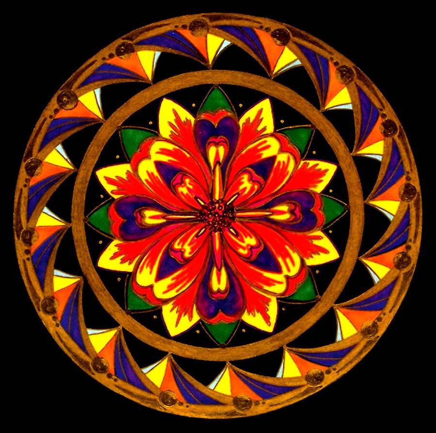 Mandala Painting - JOY by Pam Ellis