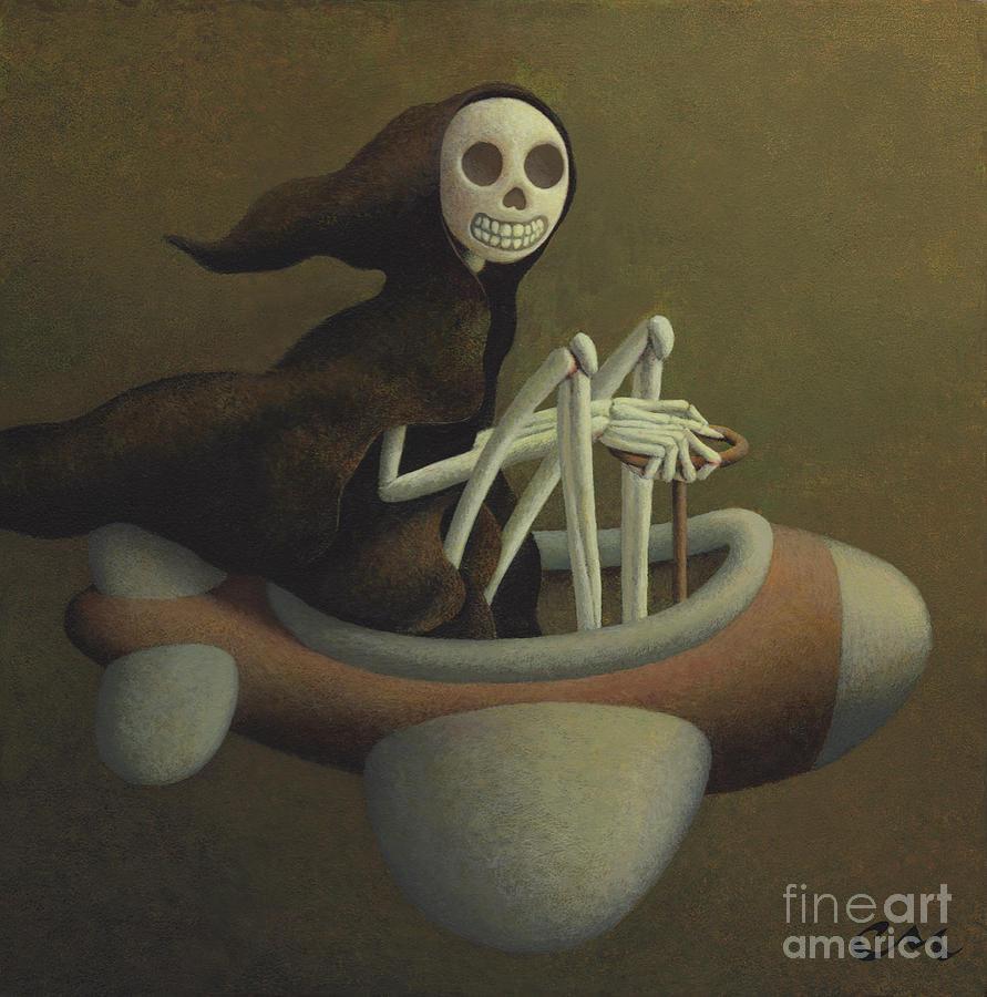 Skeleton Painting - Joy Ride by Chris Miles