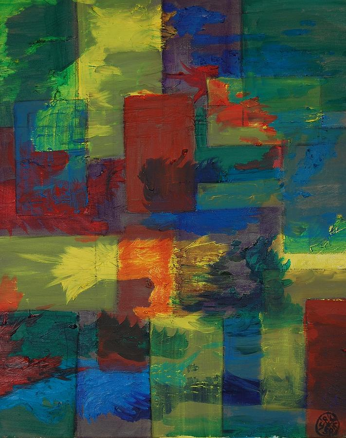 Abstract Painting - Joy Squared by Charla Van Vlack