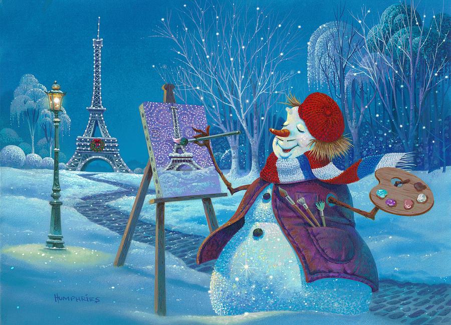 Michael Humphries Painting - Joyeux Noel by Michael Humphries