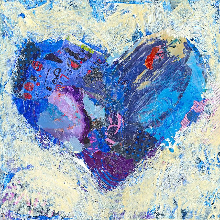 Heart Painting - Joyful Heart 8 by Shelli Walters