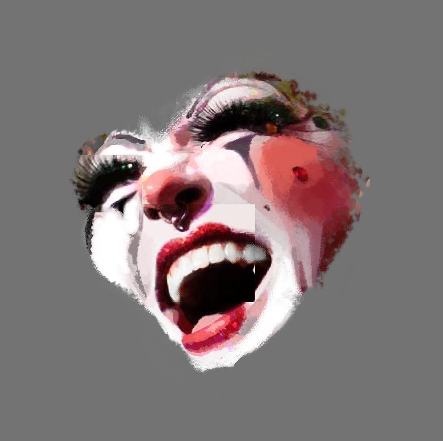 Remix Photograph - Joyful Klown by Eddie Rifkind