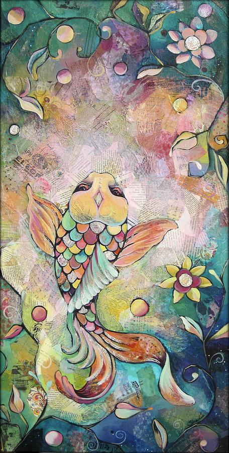 Joyful Koi I Painting