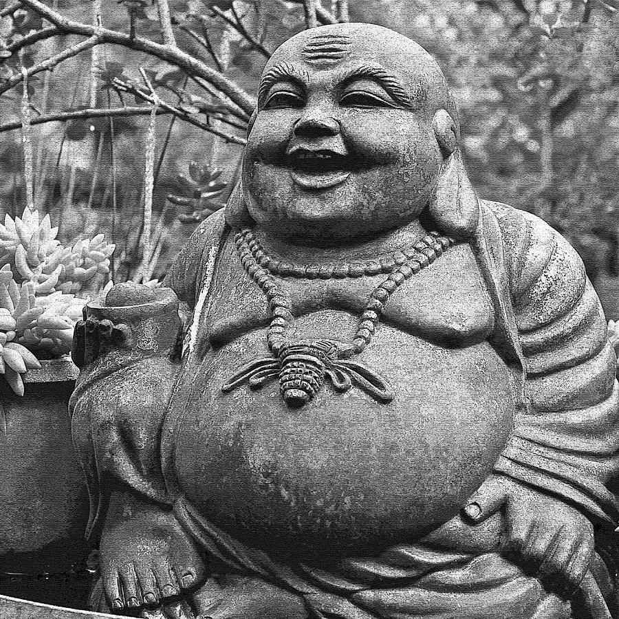 Happy Photograph - Joyful Lord Buddha by Karon Melillo DeVega