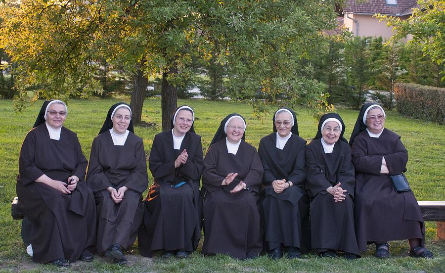 Carmelite Nuns Photograph - Joyful Nuns by Don Wolf