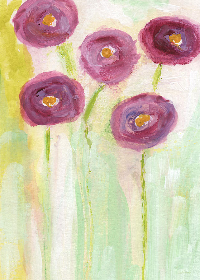 Joyful Poppies- Abstract Floral Art Painting