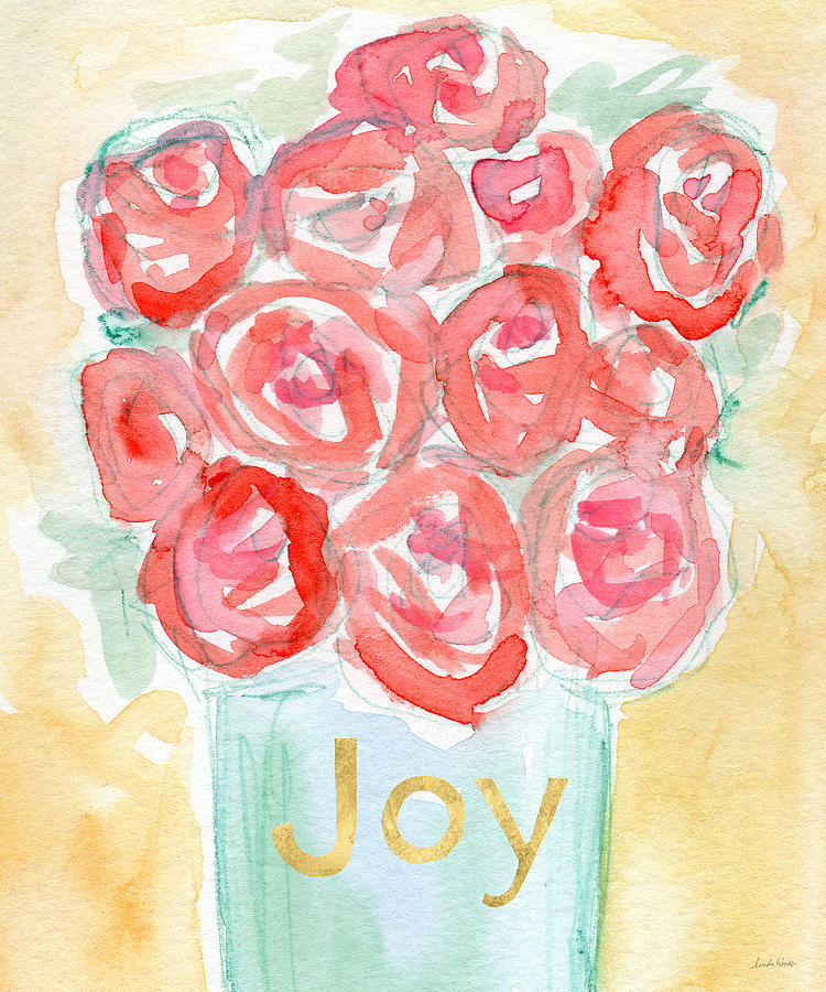 Roses Painting - Joyful Roses- Art by Linda Woods by Linda Woods