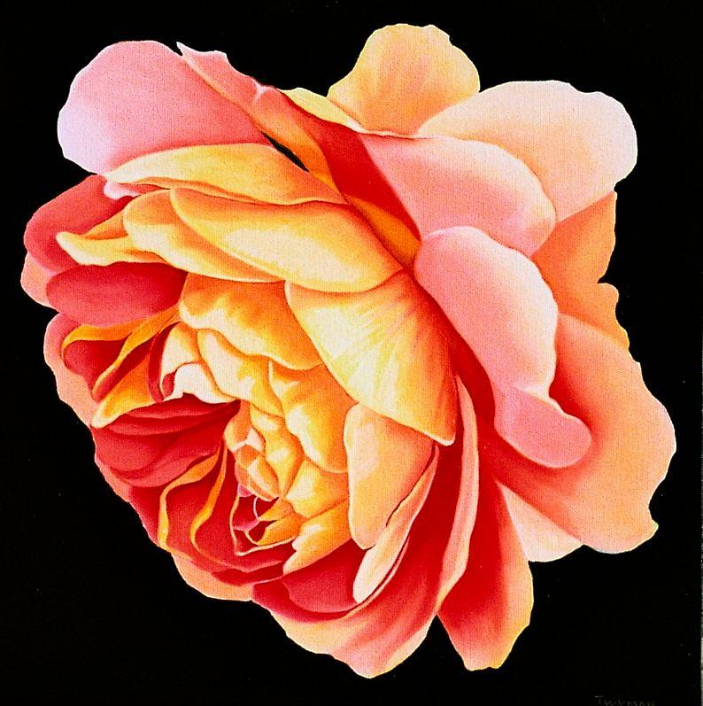 Rose Painting - Joyfull by Susan Twyman