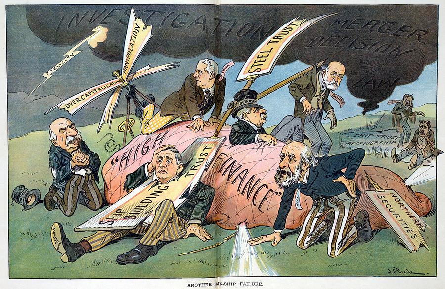 J P Morgan Political Cartoon Photograph By Everett