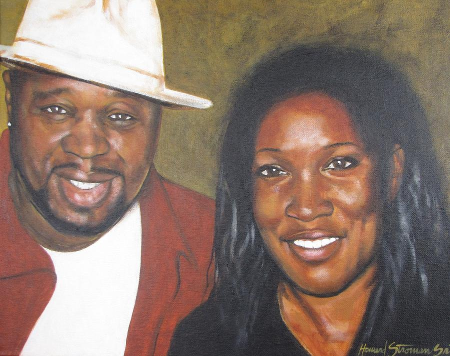 Portrait Painting - Jr and Tina by Howard Stroman