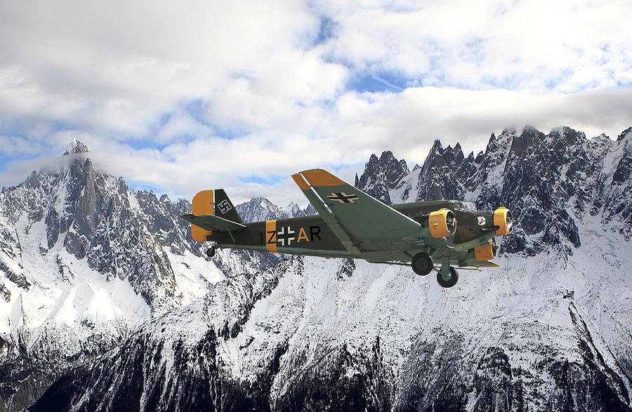Aircraft Photograph - Ju52 - Alpine Passage by Pat Speirs